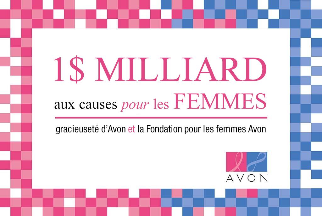 La Fondation Avon pour les femmes célèbre sa contribution d'un milliard de dollars!